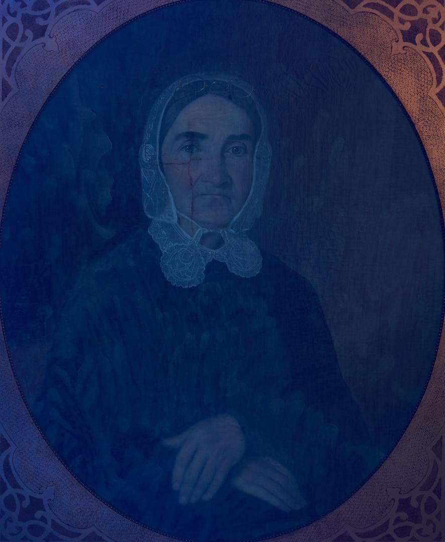 Lot 195: Samuel Shaver O/C Portrait Painting, Winifred Berry Benson