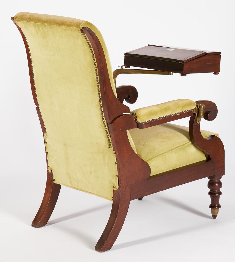 Lot 200: Writing Chair and Saddlebag, Sec. of War Carey Harris provenance