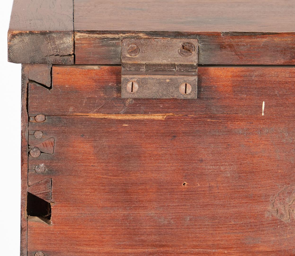 Lot 204: Southern Sheraton Walnut Cellaret