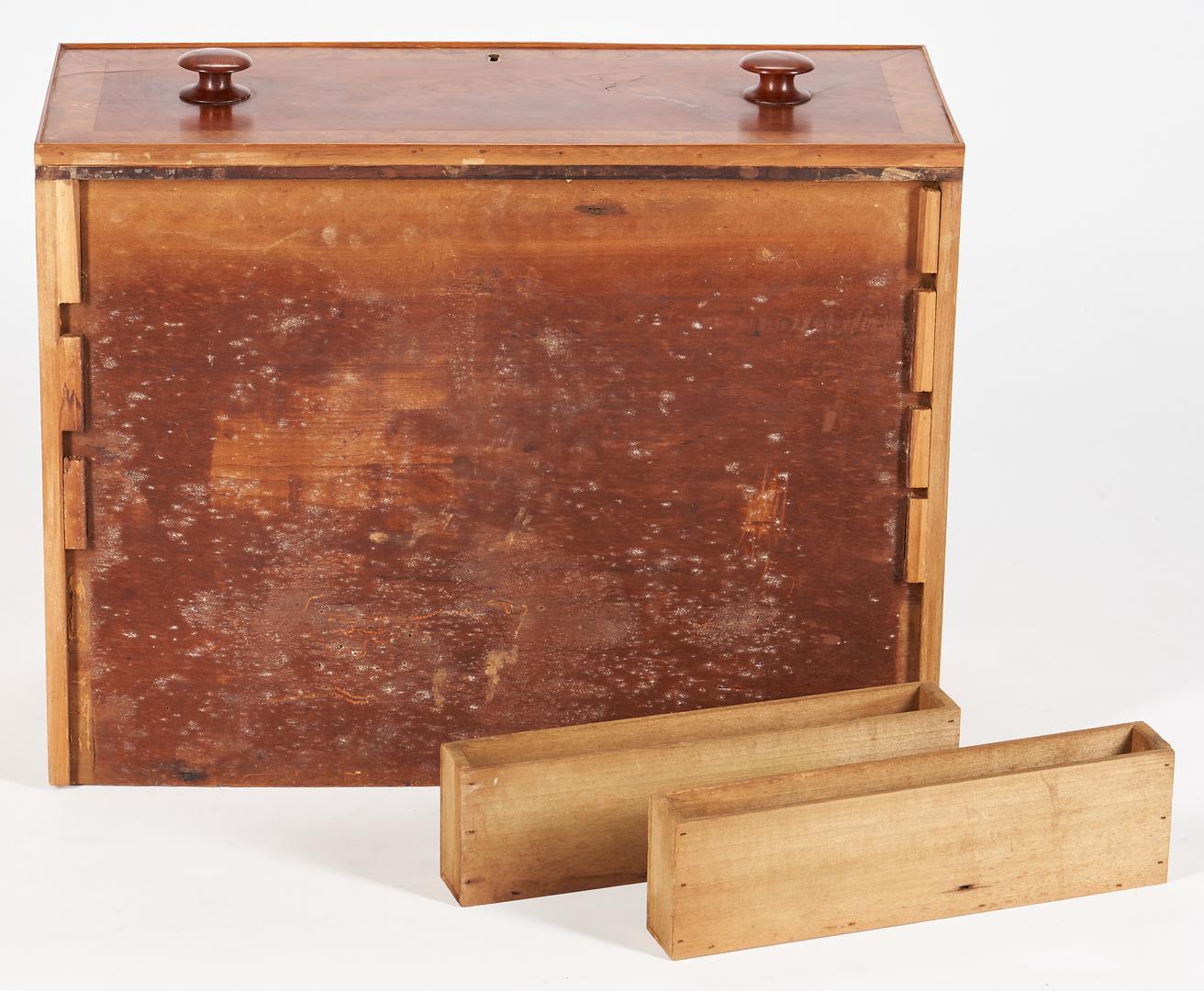 Lot 208: Kentucky Cherry Sugar Table, Hidden Compartments