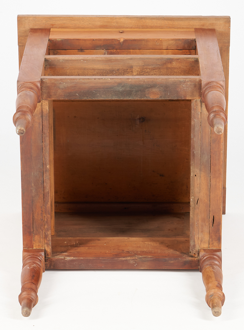 Lot 212: Southern Sheraton Walnut and Cherry Work Table with Shallow Well