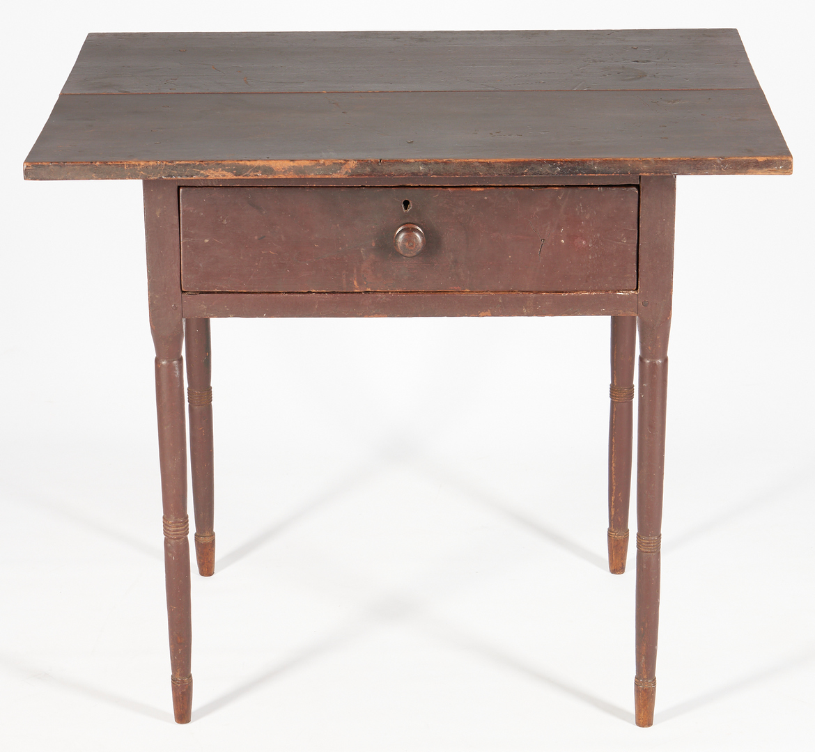 Lot 213: Southern Painted Cherry 1-Drawer Work Table