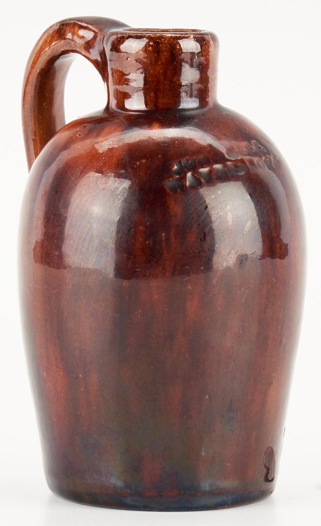 Lot 214: Pair Diminutive John Bell Pottery Jugs, 1882