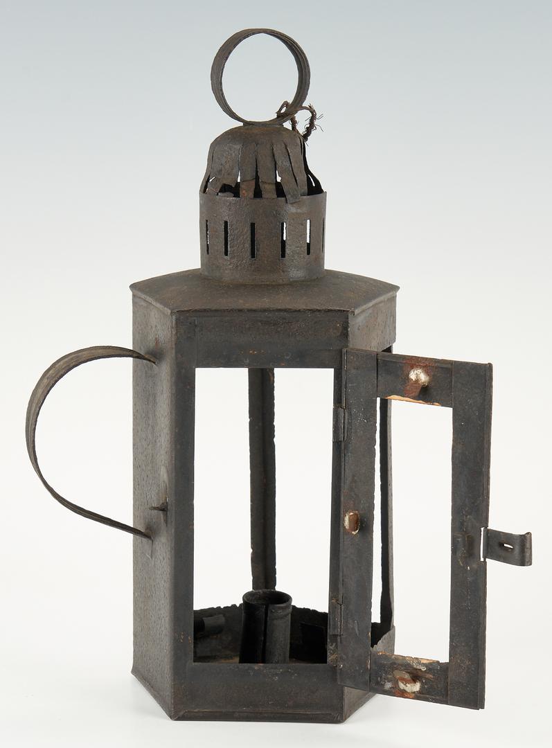 Lot 219: Group of 3 Tin Lanterns, incl. Nautical Lanterns
