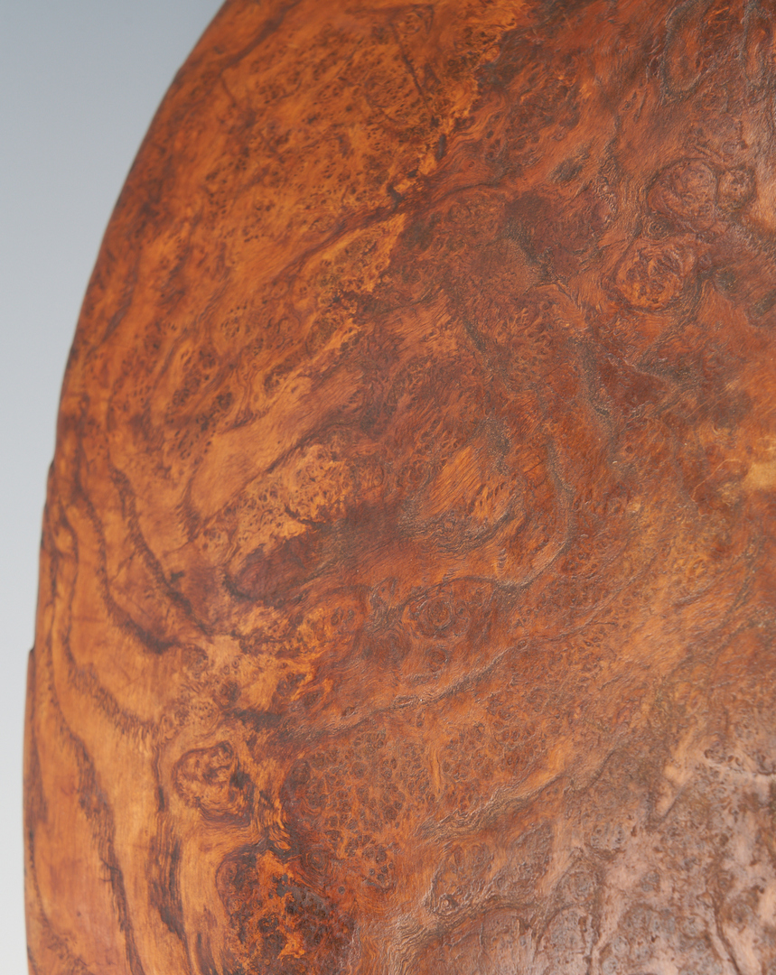 "Lot 222: Large 19th Century Burl Wood Bowl, 23 3/8"" Dia."