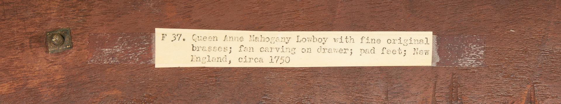 Lot 225: American Queen Anne Lowboy, ex. Israel Sack / Charles K. Davis