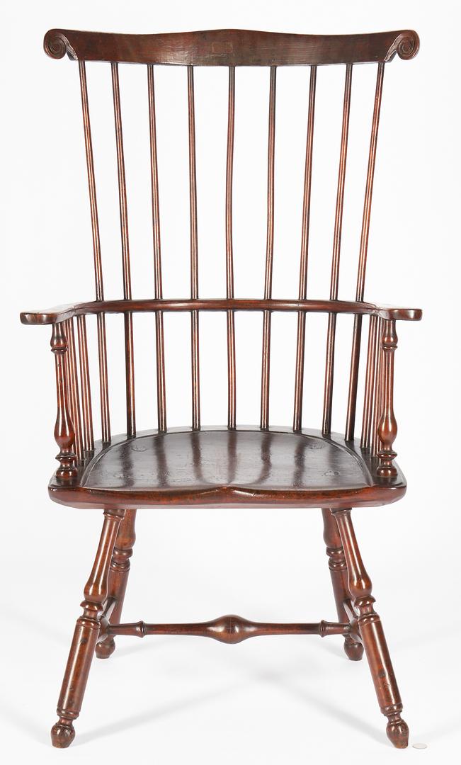 Lot 226: Pennsylvania Windsor Comb Back Armchair, Ex. Israel Sack
