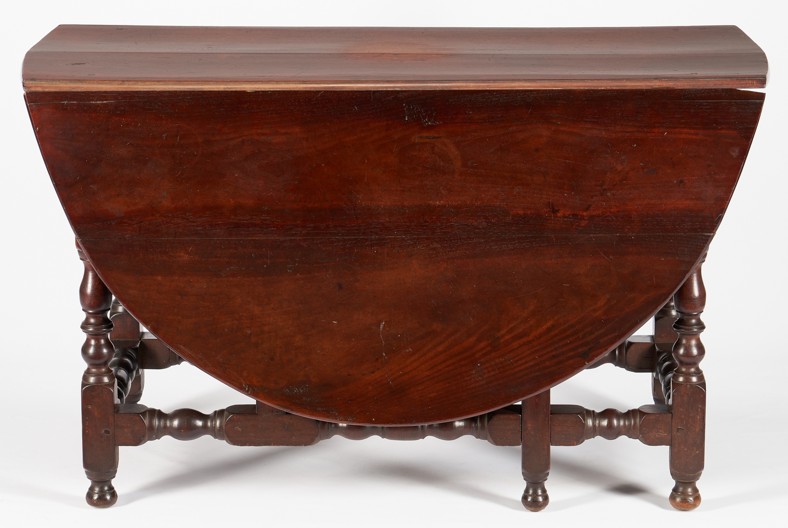 Lot 227: William and Mary Pennsylvania Two-Drawer Gateleg Table