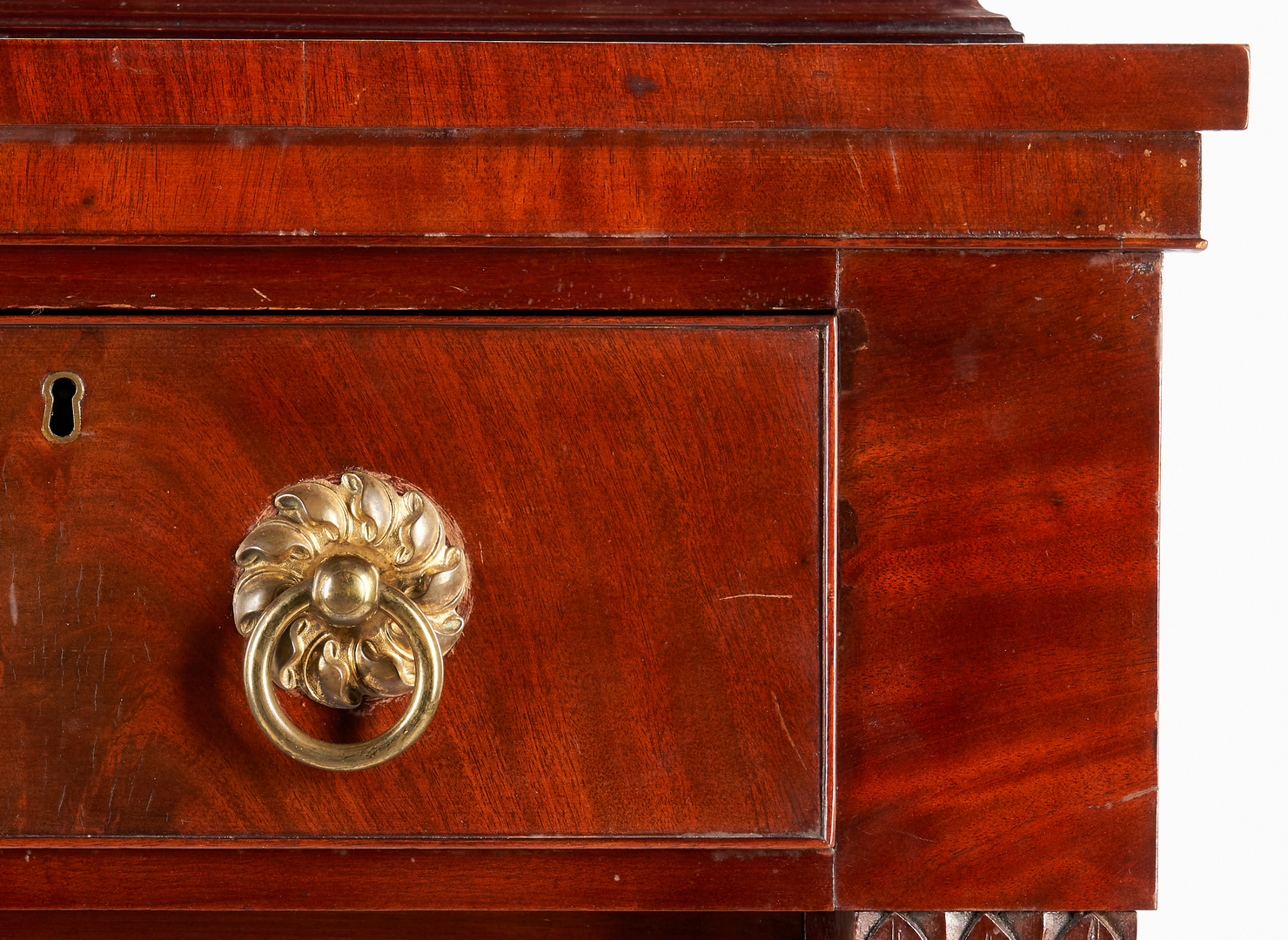 Lot 232: Classical Mahogany Chest of Drawers, poss. Boston