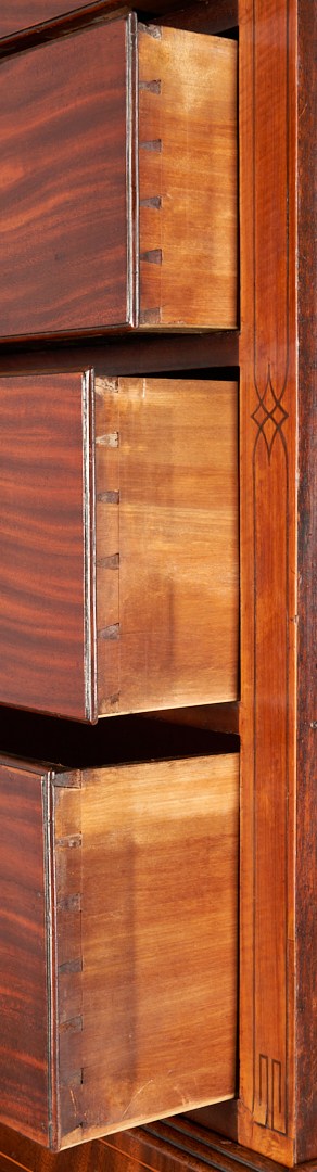 Lot 236: George III Mahogany Inlaid Chest on Chest