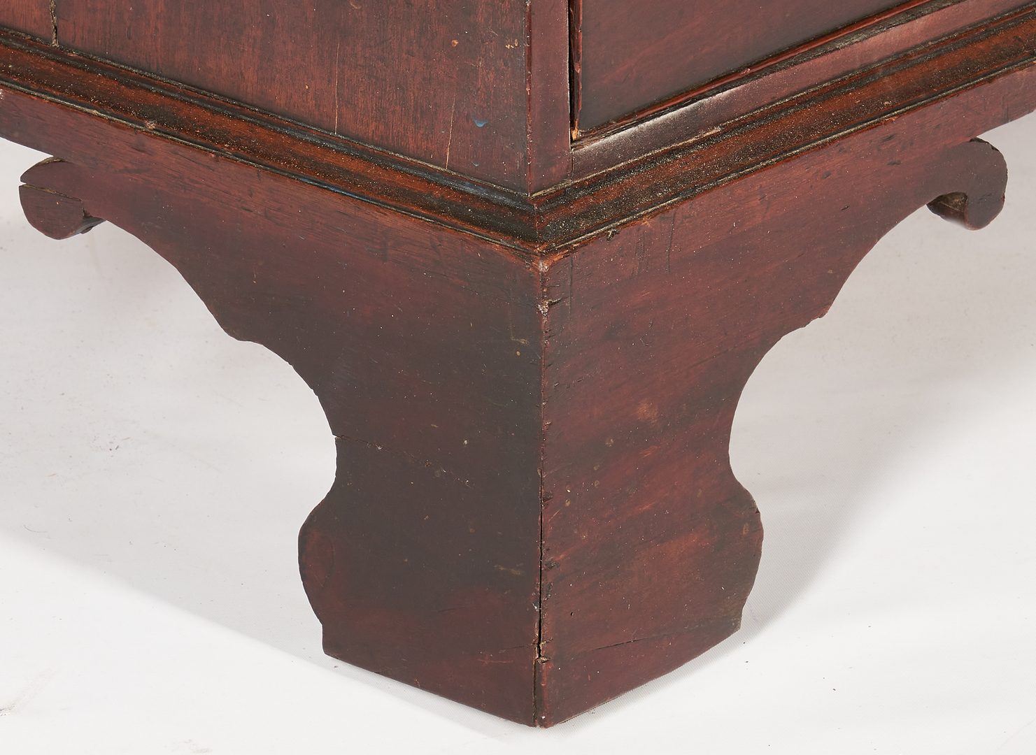 Lot 239: British Inlaid Chest on Chest of Narrow Proportions