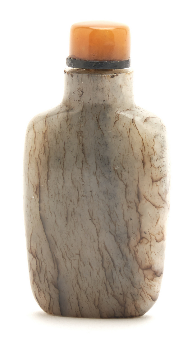 Lot 23: 3 Chinese Jade Items, Pendant, Bangle & Snuff Bottle