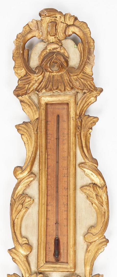 Lot 241: French Rococo Barometer & Neoclassical Wall Ornament, 2 items