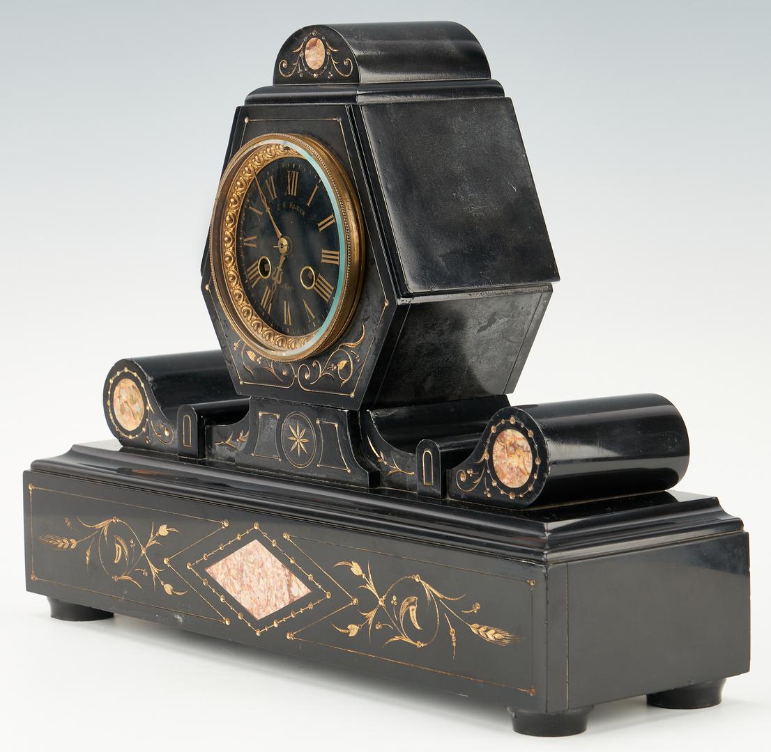 Lot 243: French Aesthetic Movement 3-Piece Clock Garniture Set
