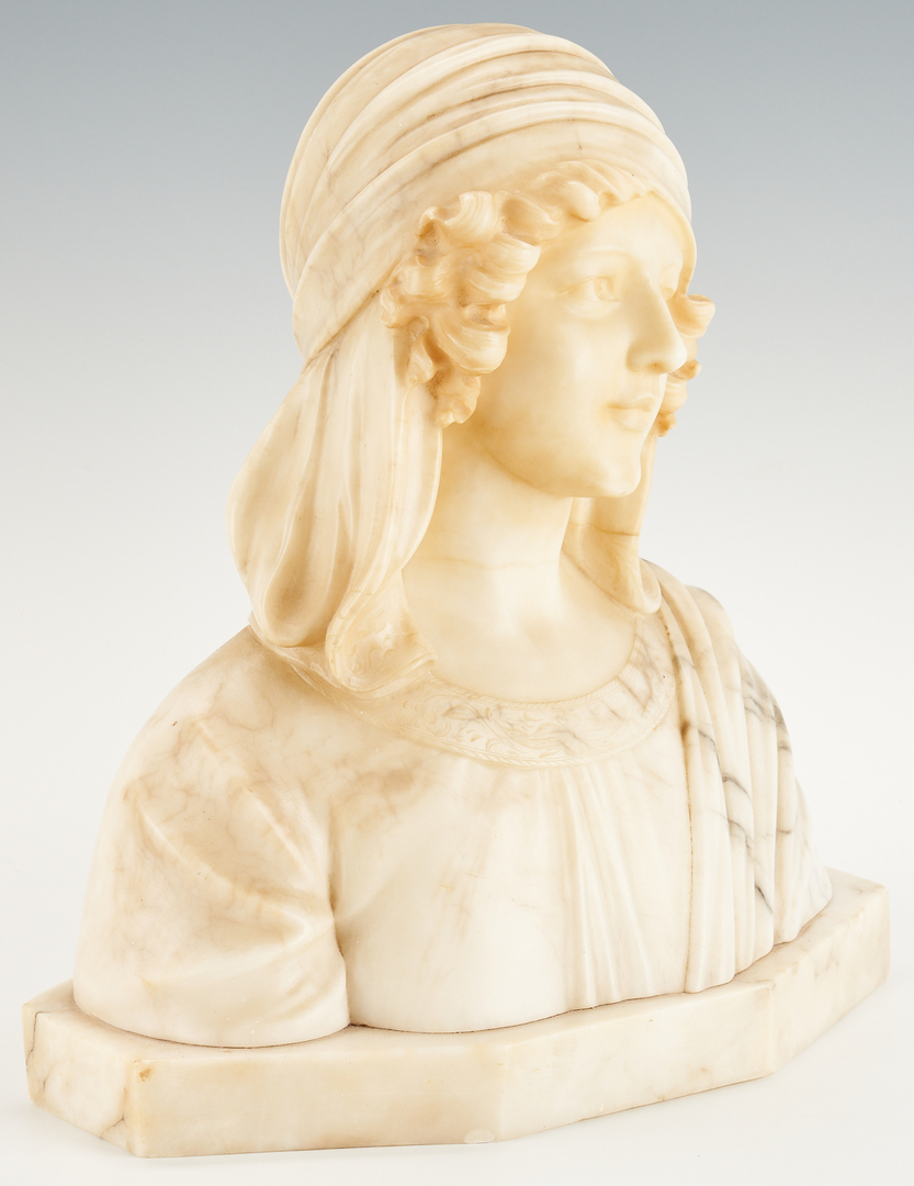 Lot 244: Italian Marble Bust of a Young Girl