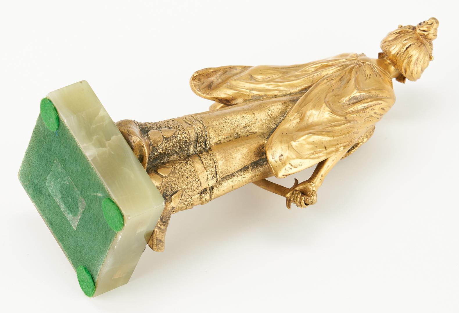 Lot 245: Ernest Wante Gilt Bronze Figure, Judith