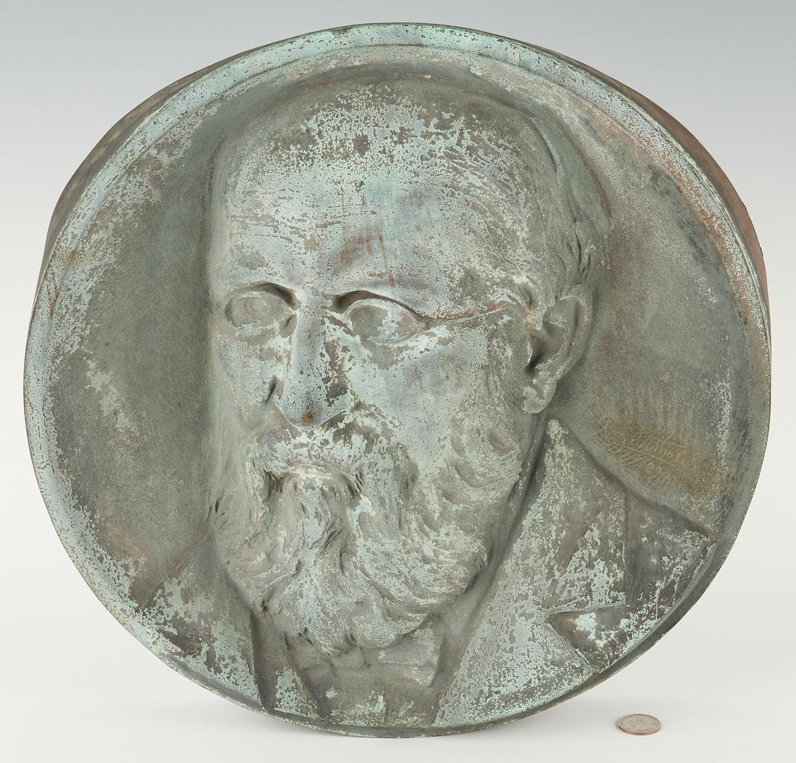 Lot 247: Frederic-Auguste Bartholdi Bronze Bas Relief Plaque