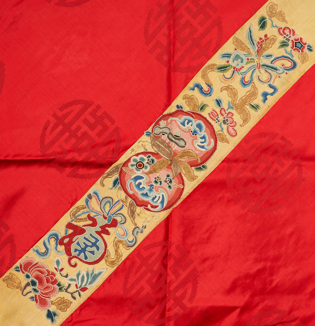Lot 25: 7 Chinese Silk Embroidered Textiles