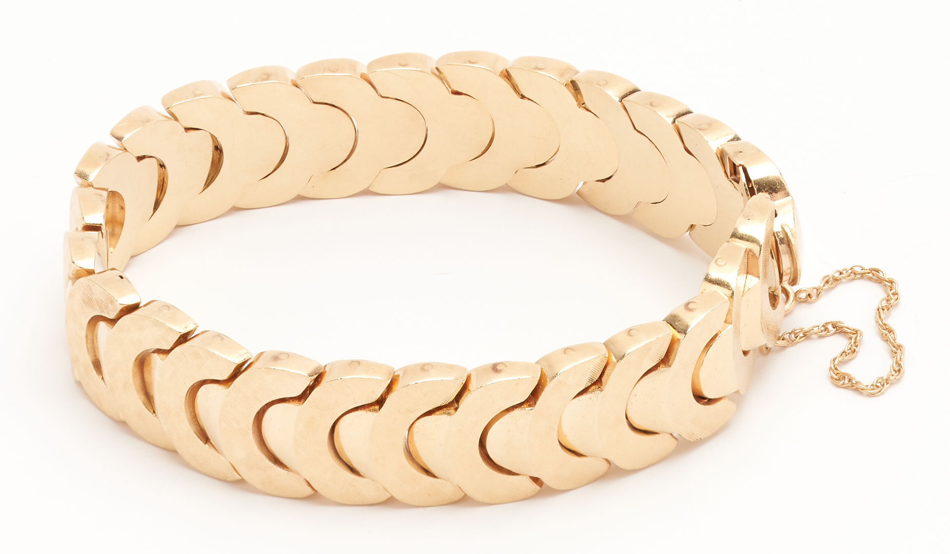 Lot 261: Ladies 14K Yellow Gold Chain Bracelet
