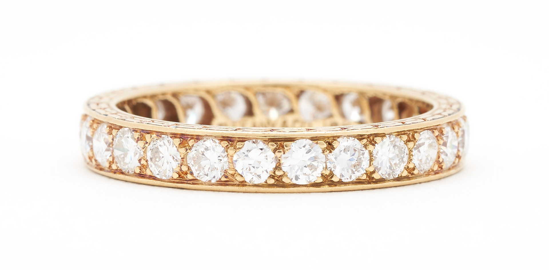 Lot 263: 2 18K Tiffany & Company Eternity Bands, Diamond & Sapphire