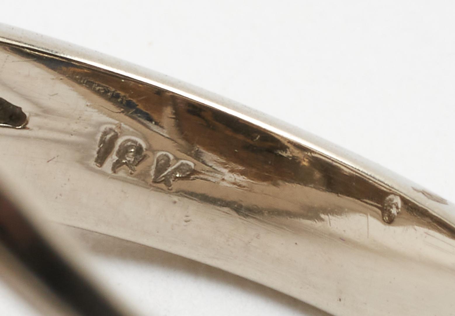 Lot 265: Ladies Custom 18K Lapis, Diamond, & Sapphire Ring