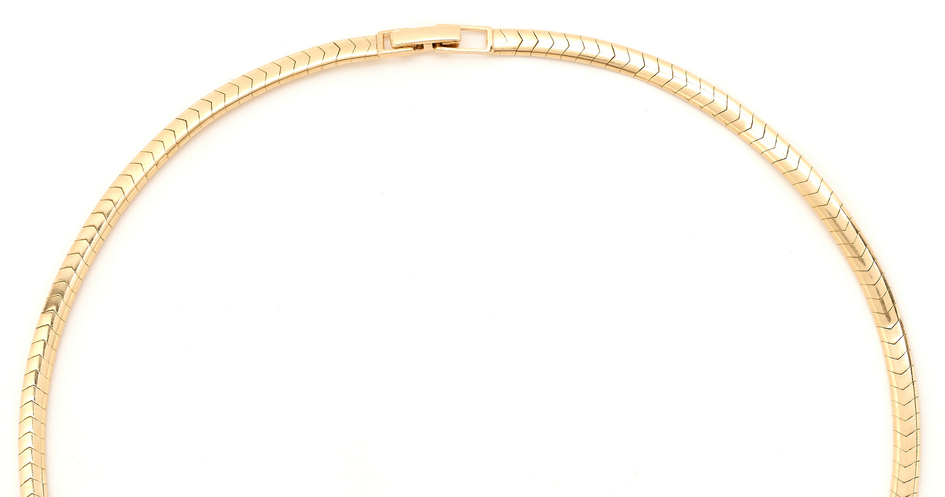 Lot 268: Ladies Jabel 14K Yellow Gold Omega Style Necklace