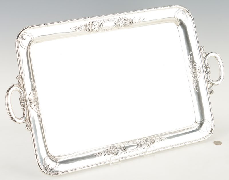 Lot 278: German Sterling Silver Tea Tray