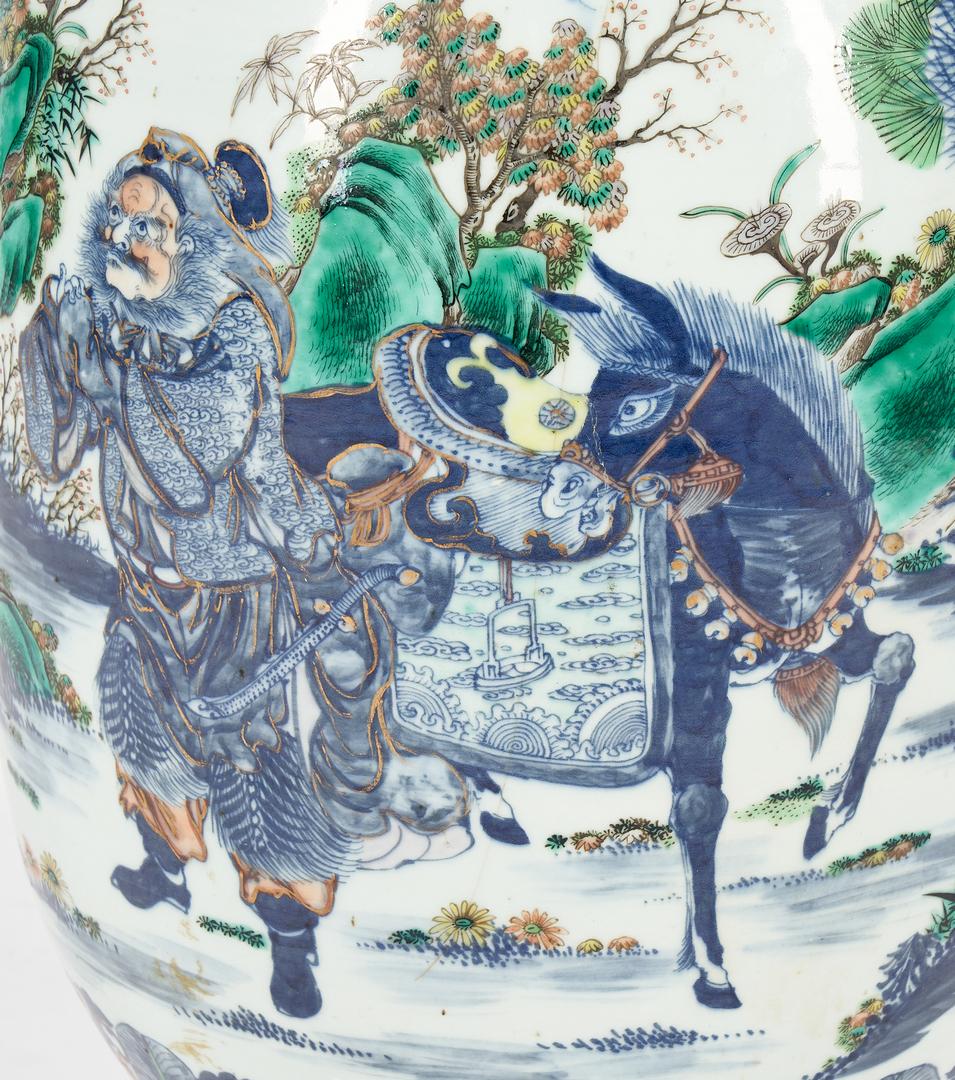 Lot 27: Chinese Qianlong Doucai Porcelain Floor Vase or Jar