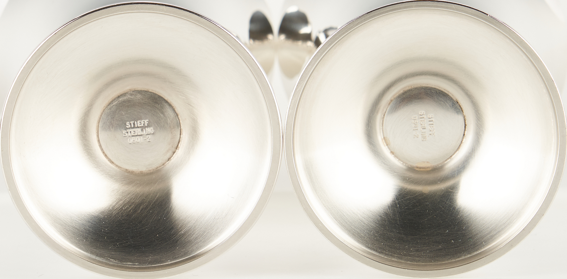 Lot 283: 12 Steiff Sterling Silver Goblets