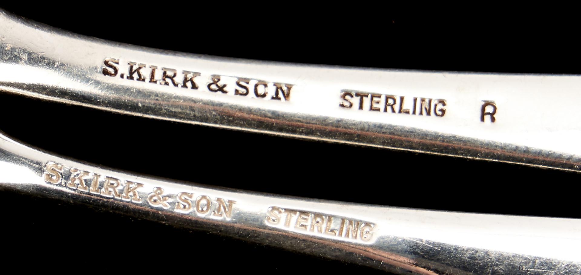 Lot 284: 96 pcs. S. Kirk & Son Sterling Silver Flatware, incl. Repousse, Rose
