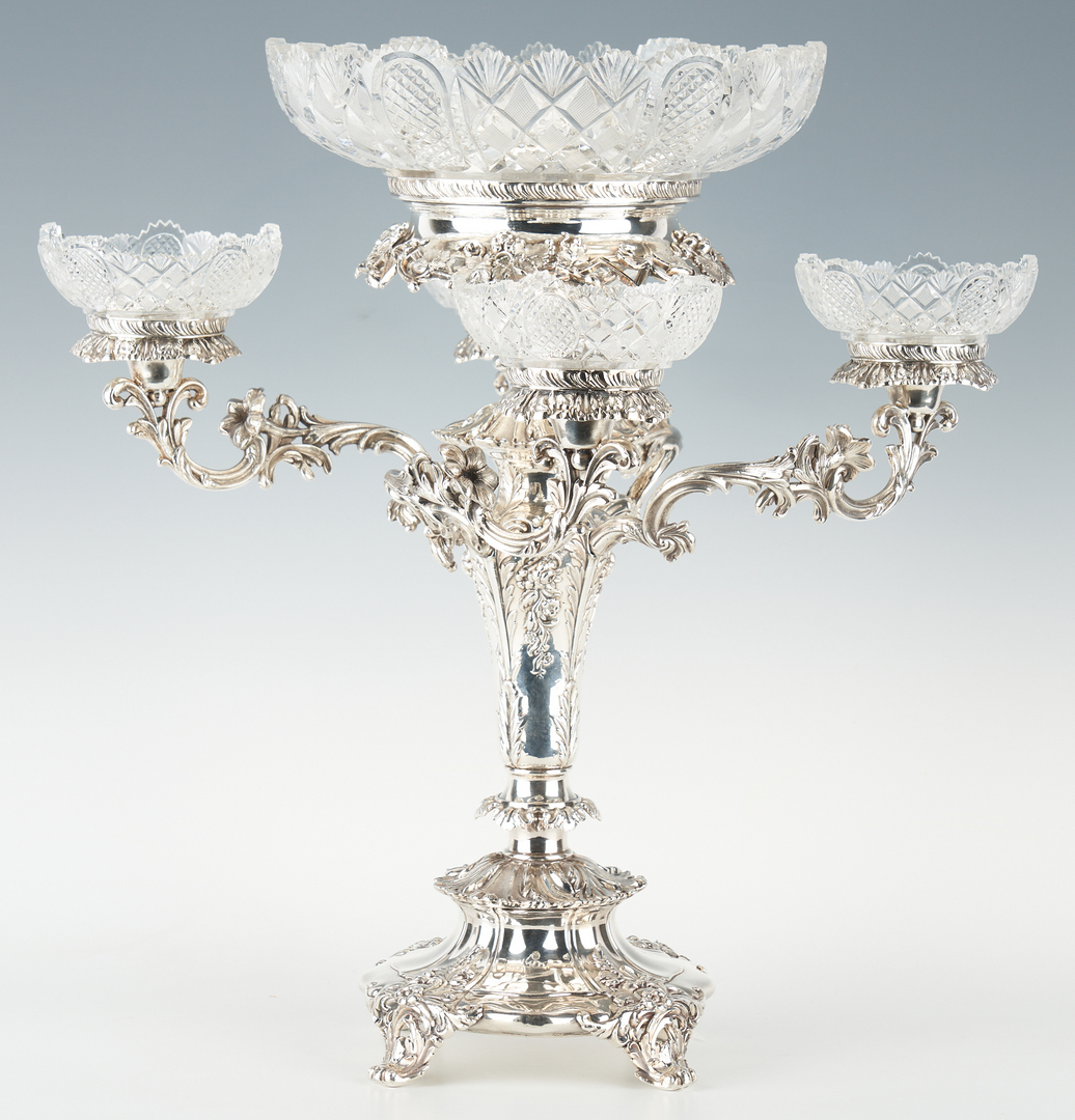 Lot 285: Victorian Old Sheffield Silverplate Epergne