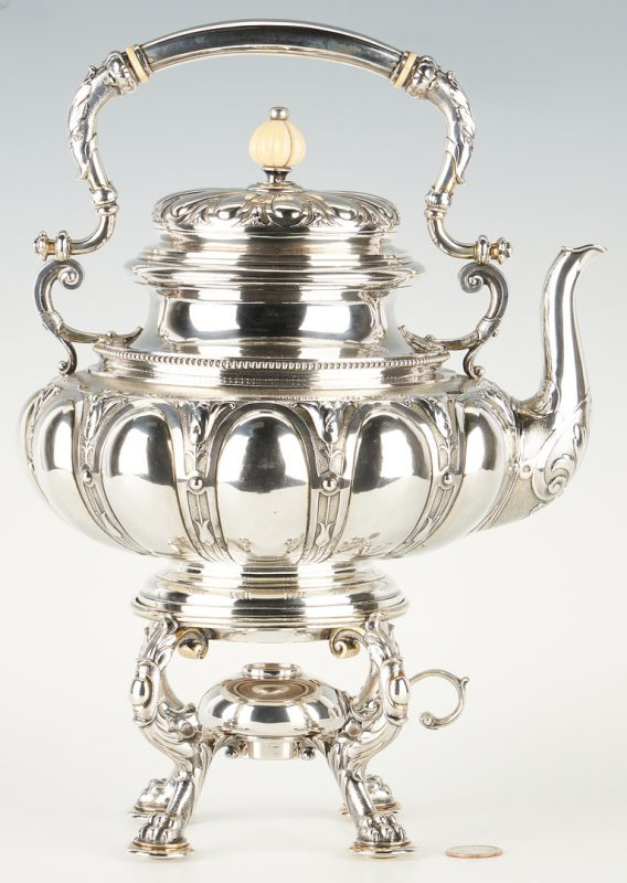 Lot 288: Humbert & Heylandt Silver Kettle on Stand