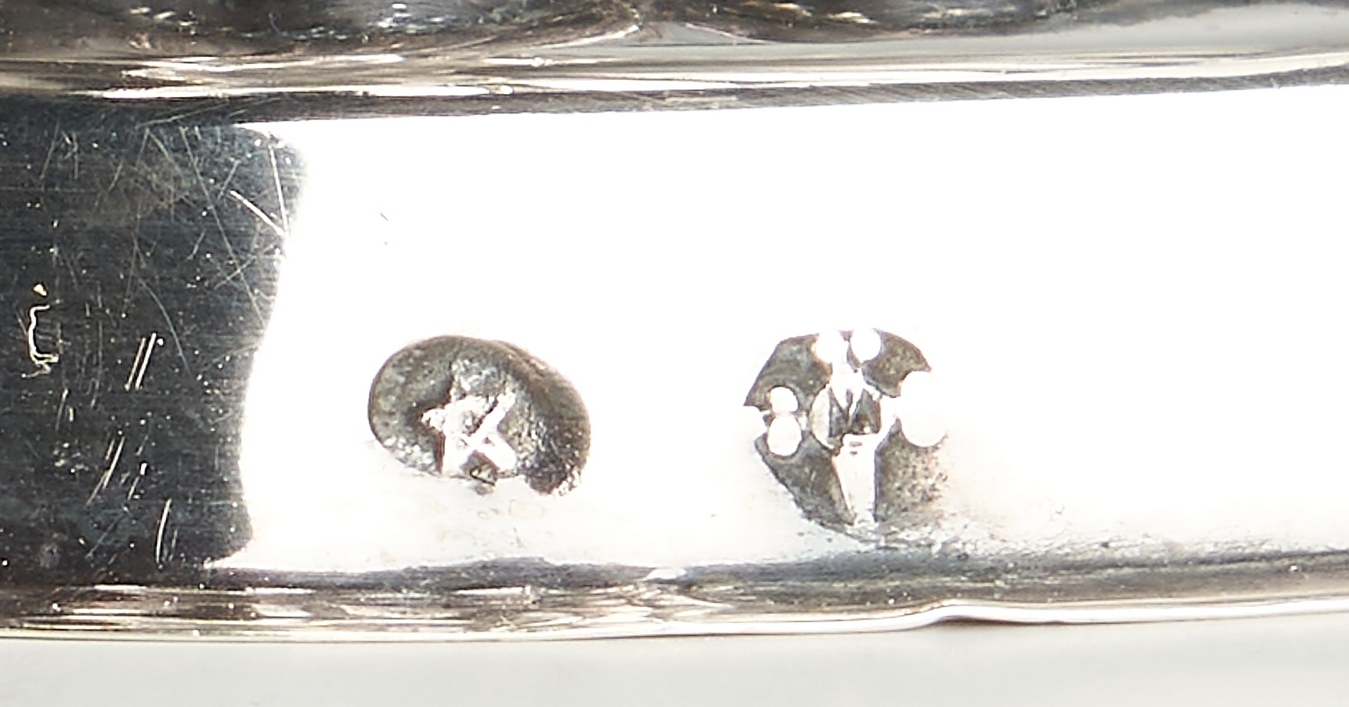 Lot 290: Pr. Continental Figural Silver Open Salt Cellars
