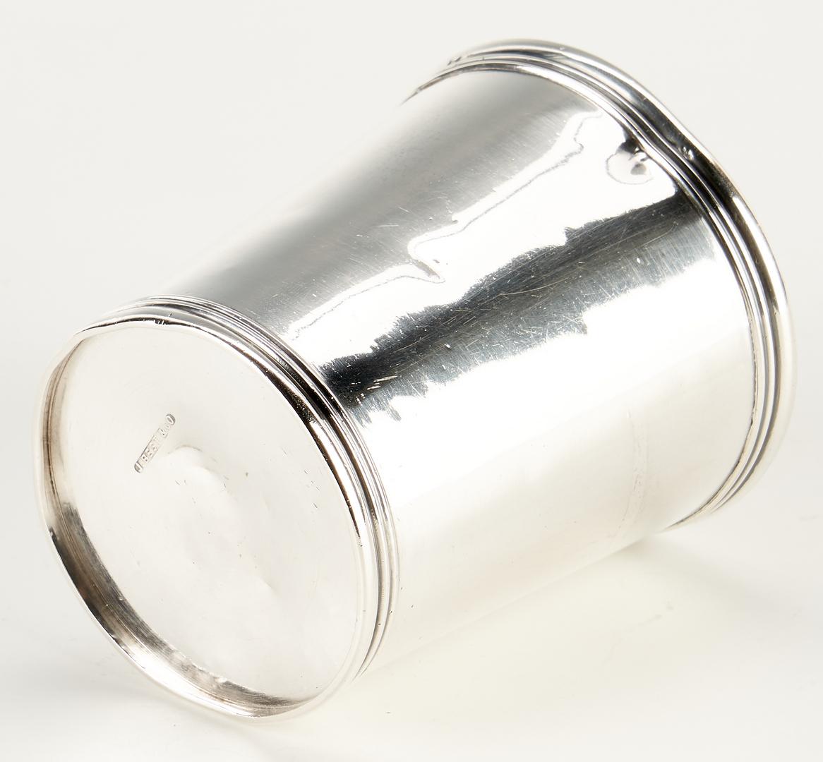 Lot 294: KY Coin Silver Julep Cup, Best & Co., Lexington