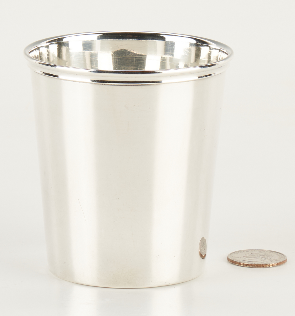 Lot 297: Russellville, KY Coin Silver Julep Cup, Settle