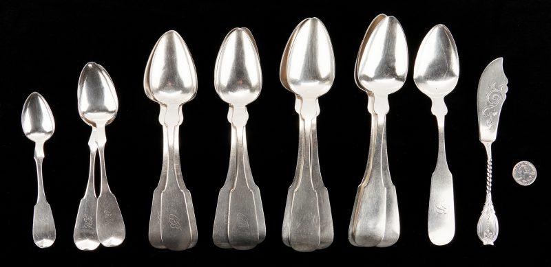 Lot 300: 17 Pcs. Lexington Coin Silver: Frazer, Bruce & Till