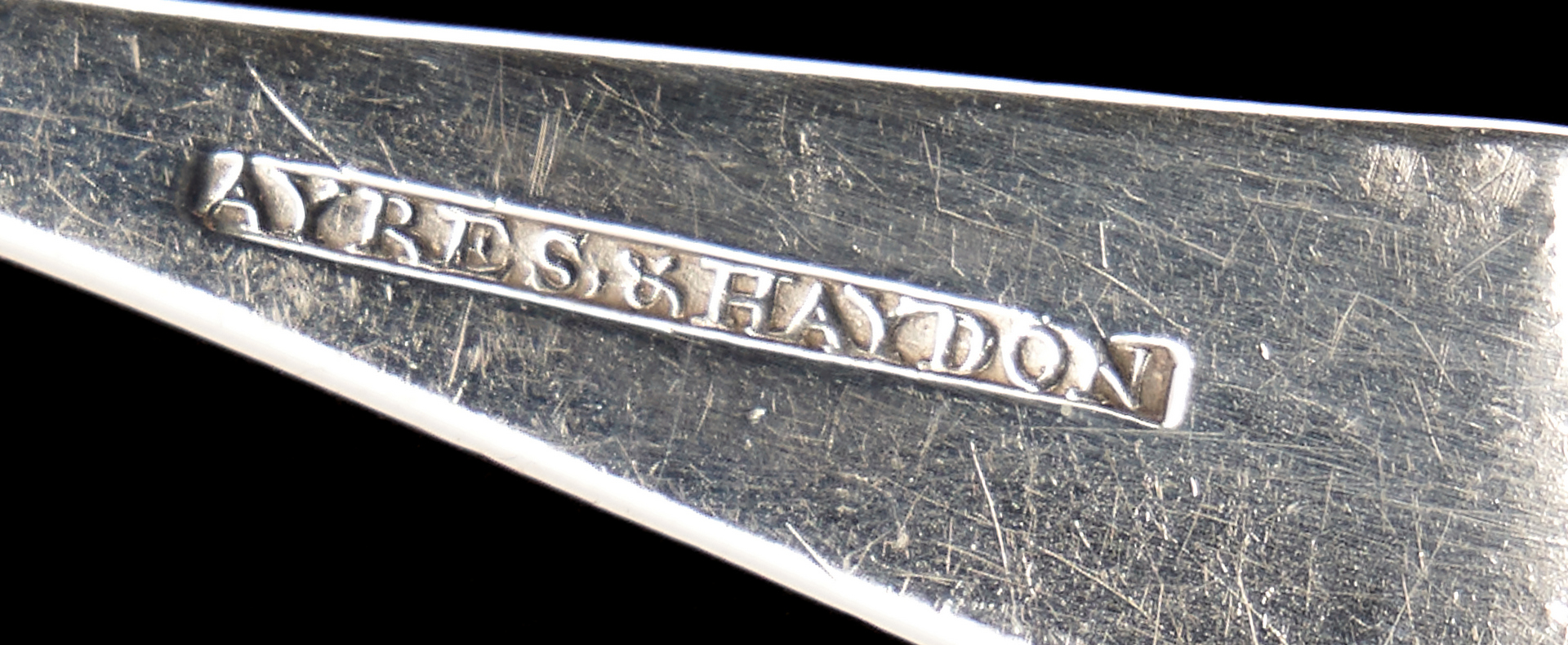 Lot 306: Ayres & Haydon KY Coin Silver Condiment Ladle