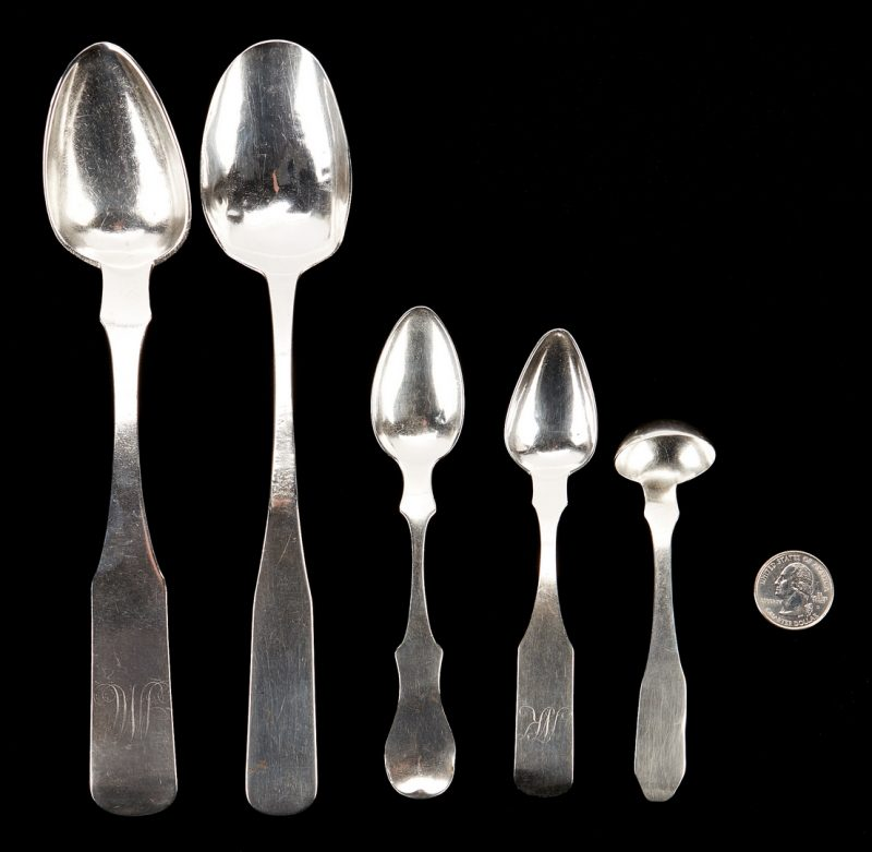 Lot 309: Riggs Paris KY Silver Cream Ladle & 4 spoons