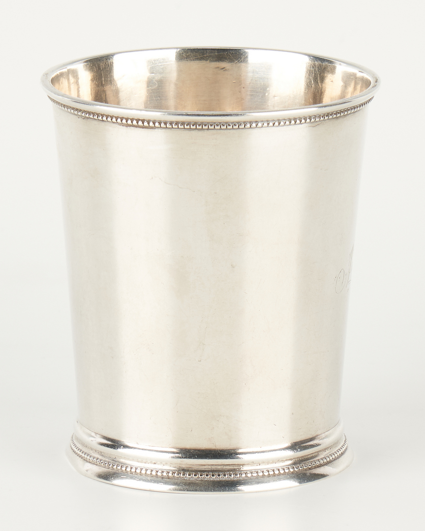 Lot 310: Coin Silver Julep Cup, S.B. Hall