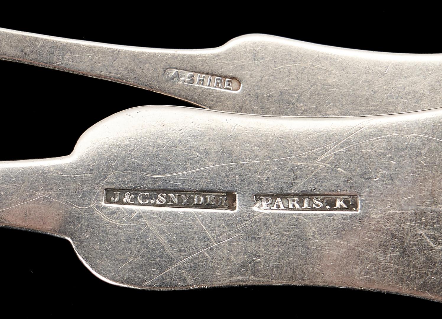 Lot 311: 18 Pcs. Paris KY Coin Silver, Assorted Makers