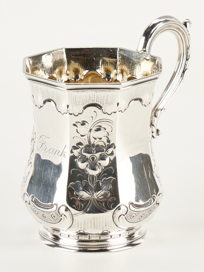 Lot 320: 5 Coin Silver Items, Cup & 4 Spoons, incl. Hope
