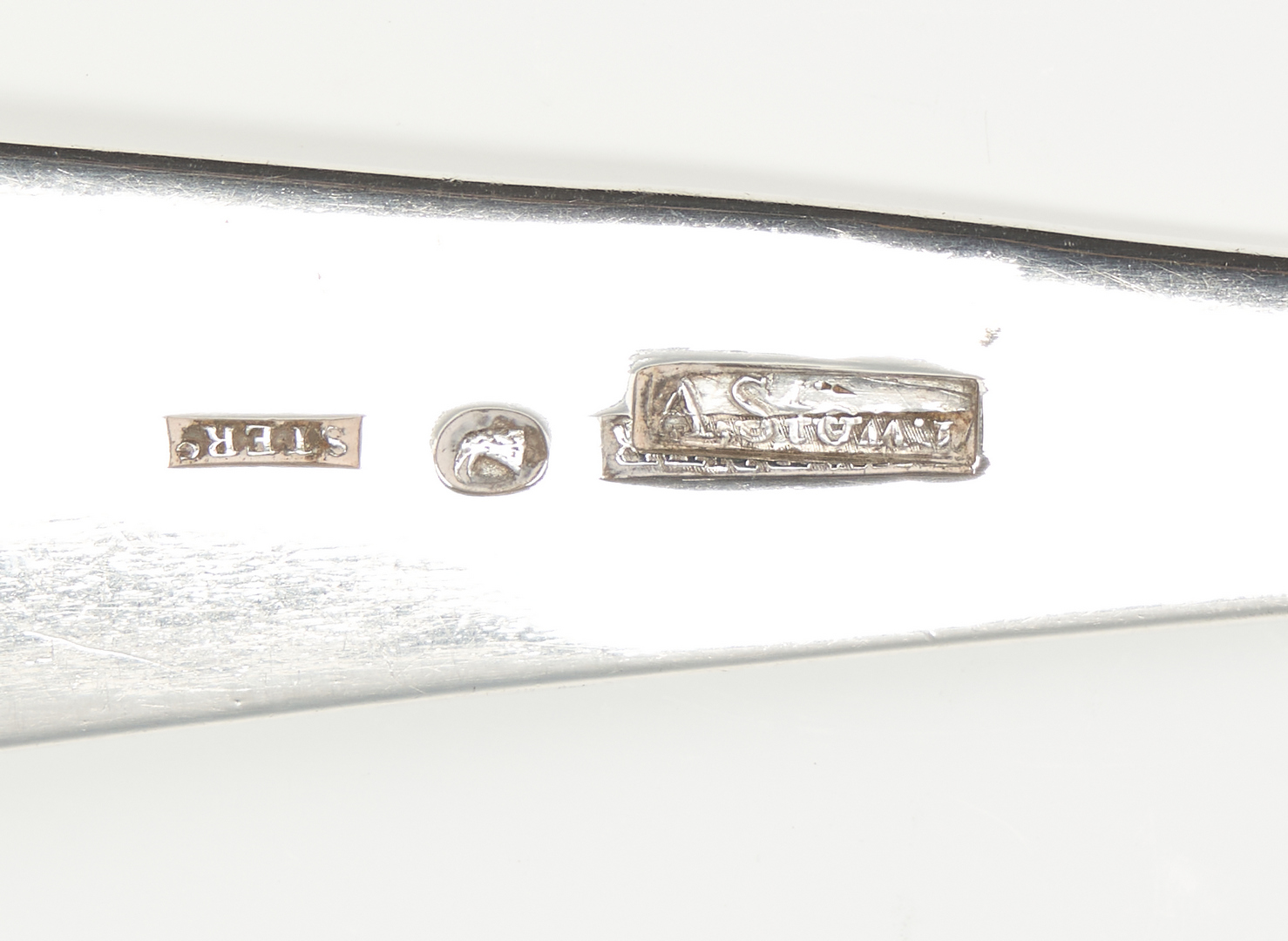 Lot 321: Baltimore coin silver ladle, Stone and Warner, Overstruck