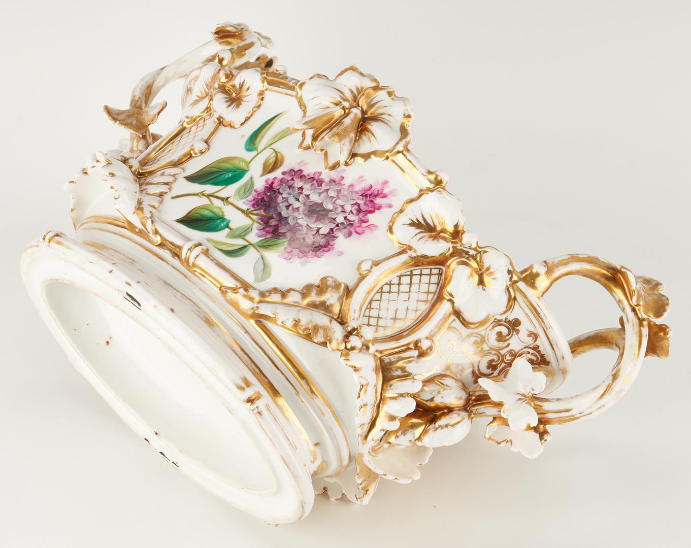 Lot 327: Old Paris Porcelain Jardiniere