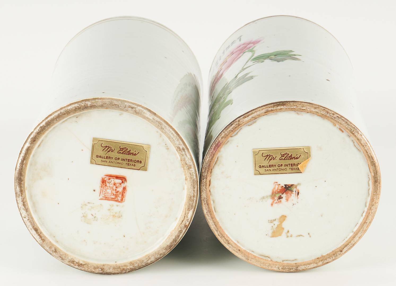 Lot 32: 3 Chinese Republic Famille Rose Porcelain Vases