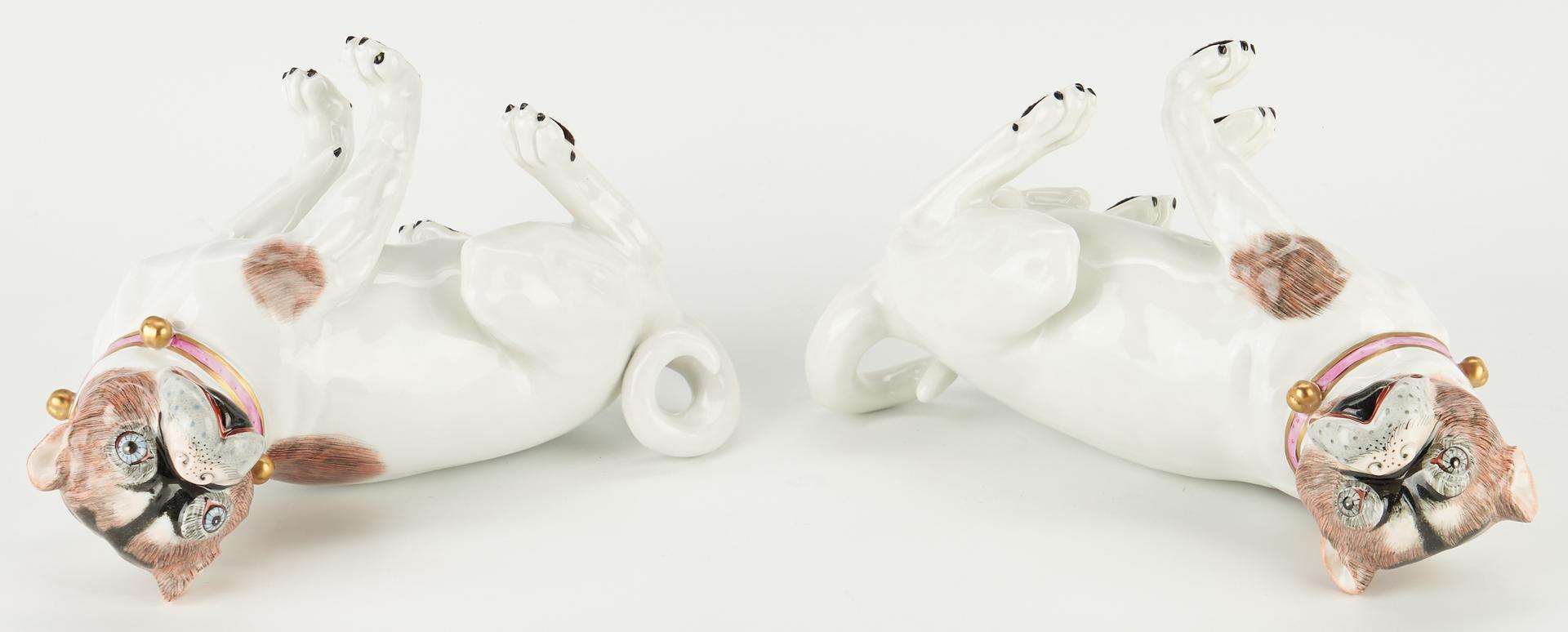 Lot 330: Pair of Dresden Porcelain Pug Dogs