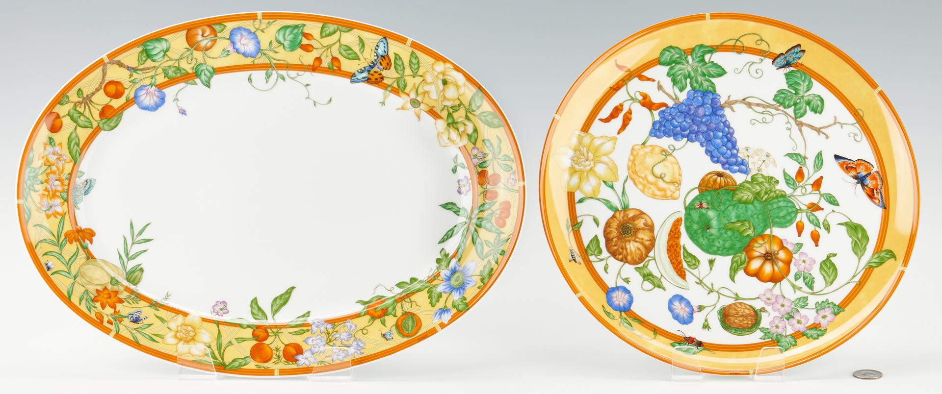 Lot 346: 50 Pcs. Hermes Siesta Porcelain, Dinner Service for 8