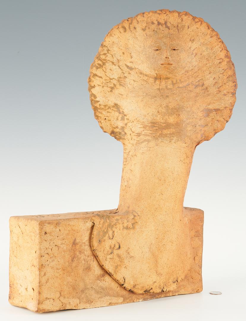 Lot 348: 2 Olen Bryant Ceramic Figural Sculptures