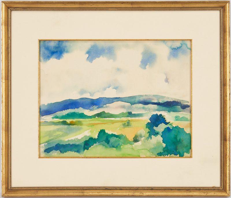 Lot 352: George Cress Watercolor Landscape Painting