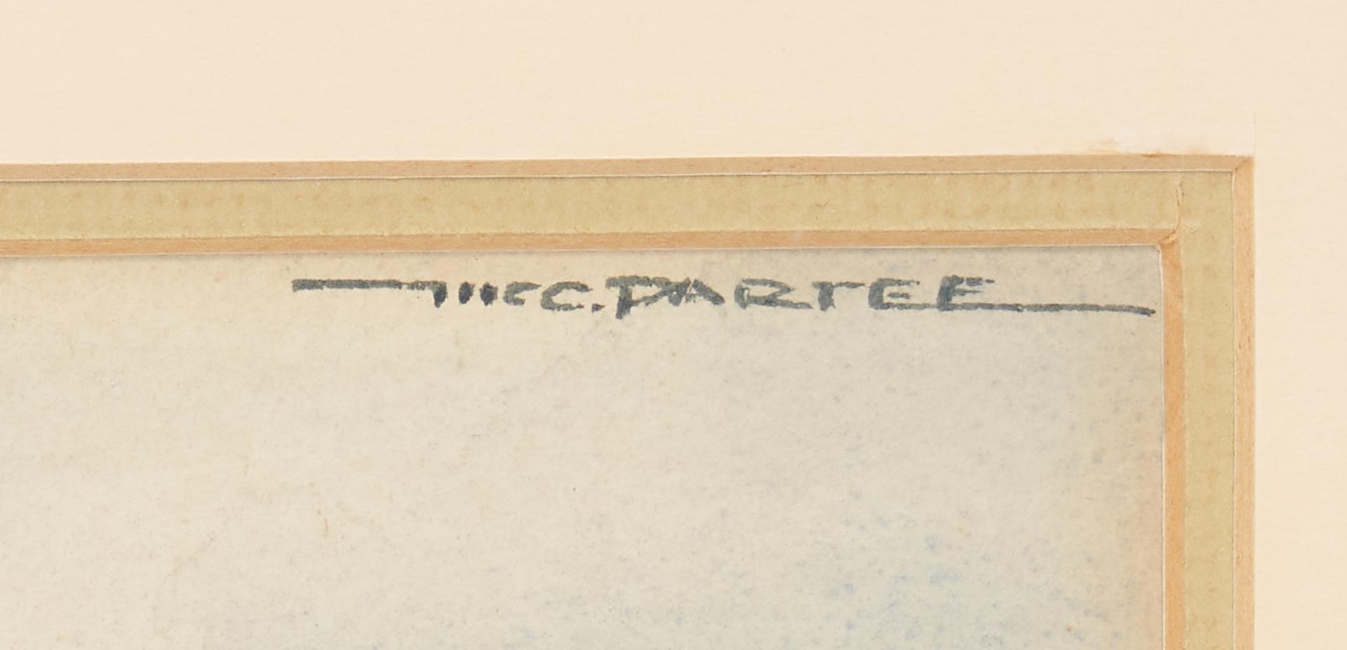 Lot 357: 2 McCullough Partee W/C Paintings, Historic 1st Ave., Nashville, TN