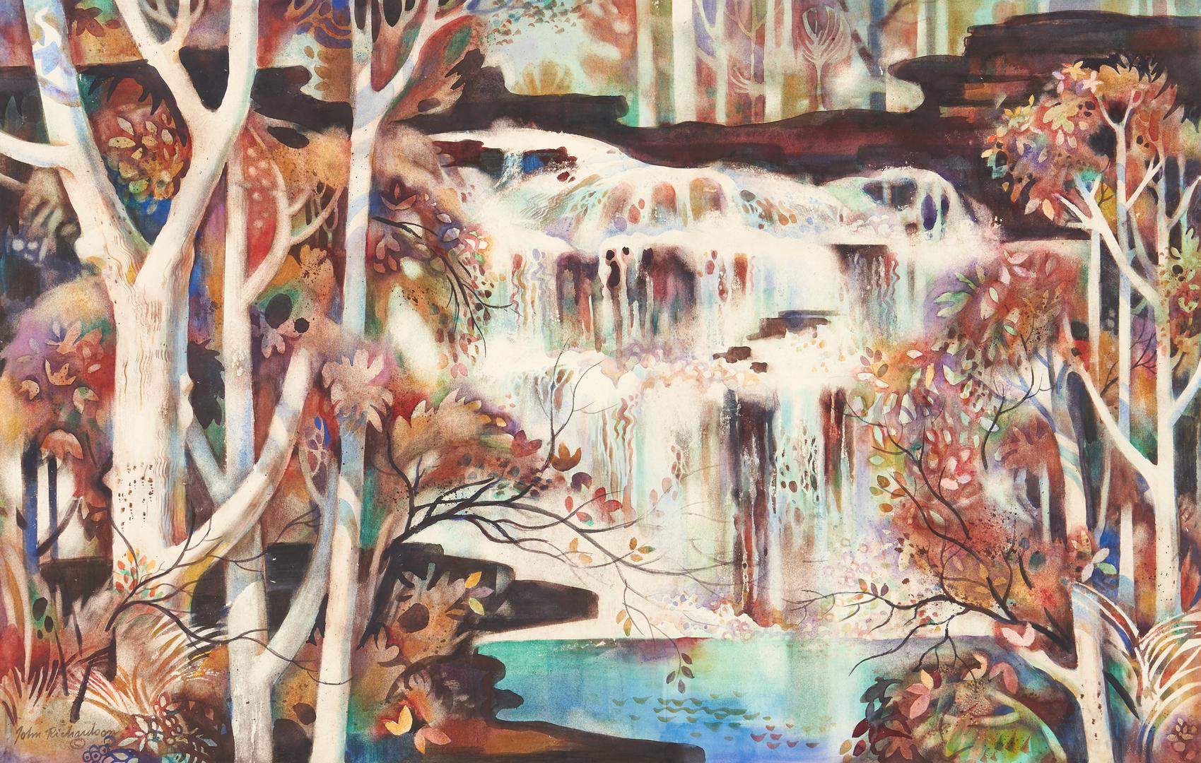 Lot 359: 2 John Richardson W/C Exhibited Landscape Paintings